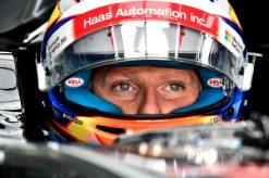Foto Poster Romain Grosjean tijdens de GP van Italie, F1 Haas Team 2017