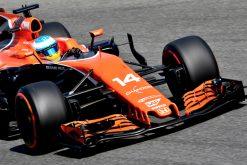Foto Poster Stoffel Vandoorne tijdens de GP van Italie, F1 McLaren Team 2017