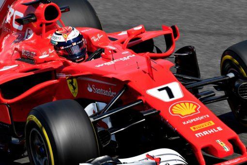 Foto Poster Kimi Raikkonen tijdens de GP van Italie, F1 Ferrari Team 2017