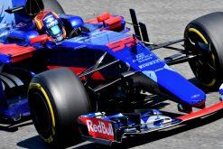 Foto Poster Carlos Sainz tijdens de GP van Italie, F1 Toro Rosso Team 2017