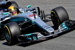 Foto Poster Lewis Hamilton tijdens de GP van Italie, F1 Mercedes Team 2017