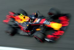 F1 Foto Poster van Max Verstappen tijdens de GP van Italie, Red Bull Racing 2017