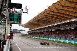 F1 Foto Poster van Max Verstappen tijdens de GP van Maleisie, Red Bull Racing 2017