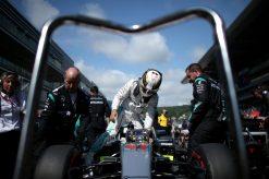 Foto Poster Lewis Hamilton tijdens de GP van Rusland, F1 Mercedes Team 2016