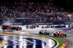 Foto Poster Start F1 Grand Prix Singapore 2017