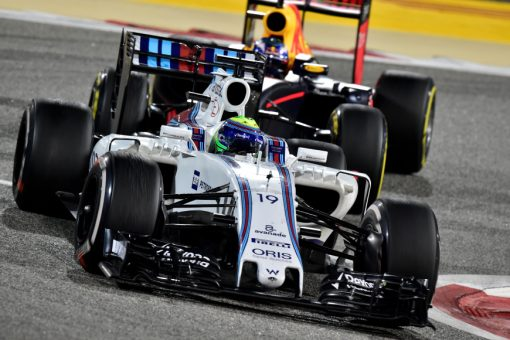 Foto Poster Felipe Massa in actie, F1 Williams Team 2016