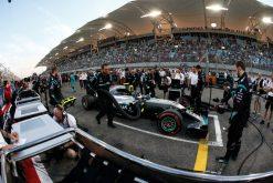 Foto Poster Nico Rosberg op de grid, F1 Mercedes Team 2016