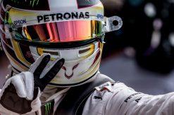Foto Poster Lewis Hamilton tijdens de GP van Italie, F1 Mercedes Team 2016