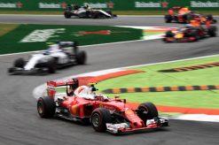 Kimi Raikkonen in actie tijdens de Grand Prix van Italie 2016.
