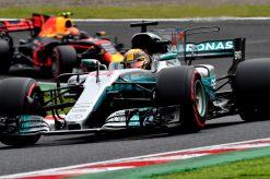 Foto Poster Lewis Hamilton tijdens de GP van Japan, F1 Mercedes Team 2017