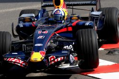 Foto Poster David Coulthard tijdens de GP van Monaco, F1 Red Bull Racing Team 2007