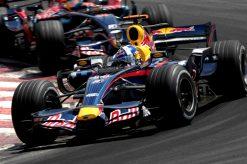 Foto Poster David Coulthard tijdens de GP van Brazilie, F1 Red Bull Racing Team 2007