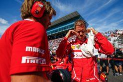 Foto Poster Sebastian Vettel tijdens de GP van Japan, F1 Ferrari Team 2017