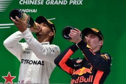 F1 Foto Poster van Max Verstappen tijdens de GP van China, Red Bull Racing 2017
