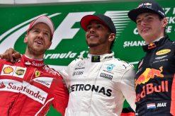 F1 Foto Poster van Max Verstappen tijdens de GP van China, Red Bull Racing 2017