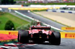 Foto Poster Kimi Raikkonen tijdens de GP van Oostenrijk, F1 Ferrari Team 2017
