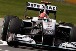 Foto Poster Michael Schumacher in Actie, F1 Mercedes Team 2010