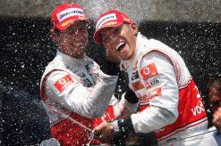 Foto Poster Lewis Hamilton tijdens de GP van Canada, F1 McLaren Team 2010