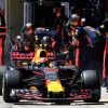 F1 Foto Poster van Max Verstappen tijdens de GP van Brazilie, Red Bull Racing 2017