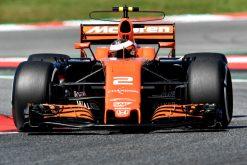 Foto Poster Stoffel Vandoorne tijdens de GP van Spanje, F1 McLaren Team 2017