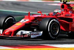 Kimi Raikkonen tijdens de GP van Spanje, F1 Ferrari Team 2017
