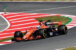Foto Poster Fernando Alonso tijdens de GP van Spanje, F1 McLaren Team 2017