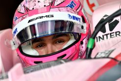 Foto Esteban Ocon tijdens de GP van Bahrein, F1 Force India Team 2017