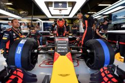 F1 Foto Poster van Max Verstappen tijdens de GP van Spanje, Red Bull Racing 2017