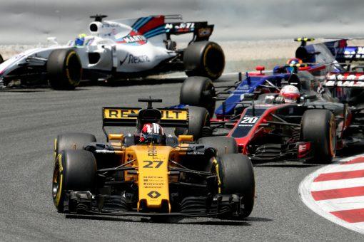 Foto Poster Nico Hulkenberg tijdens de GP van Spanje, F1 Renault Team 2017