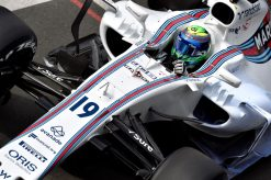 Foto Poster Felipe Massa tijdens de GP van Engeland, F1 Williams Team 2017
