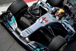 Foto Poster Lewis Hamilton tijdens de GP van Engeland, F1 Mercedes Team 2017