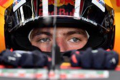 F1 Foto Poster van Max Verstappen tijdens de GP van Engeland, Red Bull Racing 2017