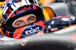 F1 Foto Poster van Max Verstappen tijdens de GP van Singapore, Red Bull Racing 2017