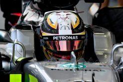 Foto Poster Lewis Hamilton tijdens de GP van Singapore, F1 Mercedes Team 2017