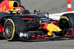 F1 Foto Poster van Max Verstappen tijdens de GP van Bahrein, Red Bull Racing 2017