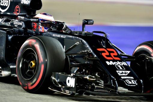 Foto Poster Jenson Button tijdens de GP van Singapore, F1 McLaren Team 2016