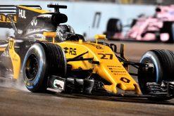 Foto Poster Nico Hulkenberg tijdens de GP van Singapore, F1 Renault Team 2017