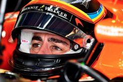 Foto Poster Fernando Alonso tijdens de GP van Amerika, F1 McLaren Team 2017