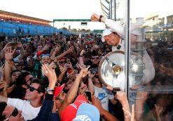 Foto Poster Nico Rosberg winnaar, F1 Mercedes Team 2016
