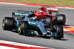 Foto Poster Valtteri Bottas tijdens de GP van Amerika, F1 Mercedes Team 2017