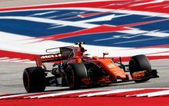 Foto Poster Stoffel Vandoorne tijdens de GP van Amerika, F1 McLaren Team 2017