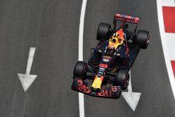 F1 Foto Poster van Max Verstappen tijdens de GP van Baku, Red Bull Racing 2017