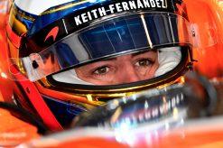 Foto Poster Fernando Alonso tijdens de GP van Abu Dhabi, F1 McLaren Team 2017