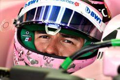 Foto Poster Sergio Perez tijdens de GP van Australie, F1 Force India Team 2017