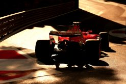 Foto Poster Kimi Raikkonen tijdens de GP van Baku, F1 Ferrari Team 2017
