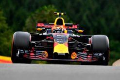 F1 Foto Poster van Max Verstappen tijdens de GP van Belgie, Red Bull Racing 2017