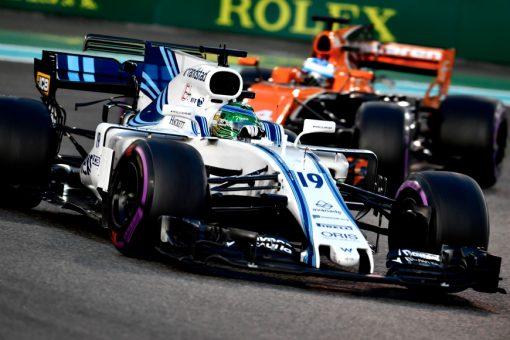 Foto Poster Felipe Massa tijdens de GP van Abu Dhabi, F1 Williams Team 2017