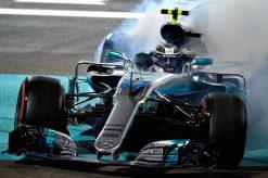 Foto Poster Valtteri Bottas tijdens de GP van Abu Dhabi, F1 Mercedes Team 2017