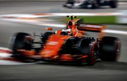 Foto Poster Stoffel Vandoorne tijdens de GP van Abu Dhabi, F1 McLaren Team 2017