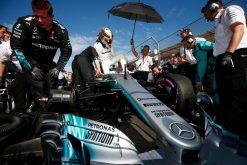 Foto Poster Lewis Hamilton tijdens de GP van Australie, F1 Mercedes Team 2017